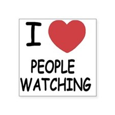 "PEOPLE_WATCHING Square Sticker 3"" x 3"""