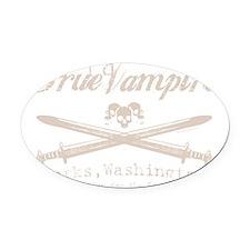 true vampire stone color centered  Oval Car Magnet