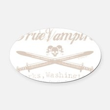 true vampire stone color centered  Oval Car Magnet
