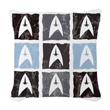 trekpattern5 Woven Throw Pillow