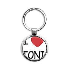 TONI Round Keychain