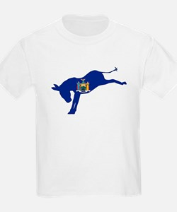 New York Democrat Donkey Flag T-Shirt