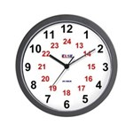 Wall Clock - 24 Hour - Large Numeral
