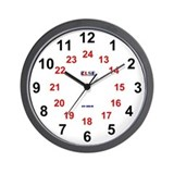 24 hour wall clocks Basic Clocks