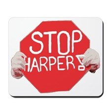 stop harper t shirt bright cdr Mousepad