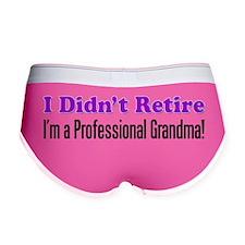 I Didnt Retire Professional Gran Women's Boy Brief