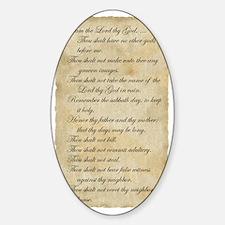 parchment_10Script Sticker (Oval)