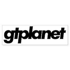 gtplanet text Bumper Sticker