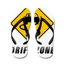 Drift Zone road sign Flip Flops