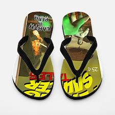 Flying Saucer Tales Fake Pulp Cover Flip Flops