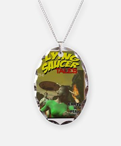 Flying Saucer Tales Fake Pulp  Necklace