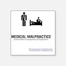 "MedMalMerch Square Sticker 3"" x 3"""