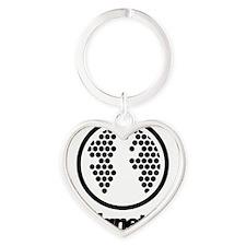 gtplanet logo vertical dotnet Heart Keychain