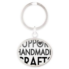 Support handmade 1 Oval Keychain
