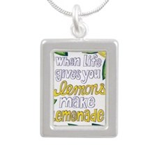 lemonade Silver Portrait Necklace