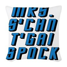 Star Trek Mrs. Spock Woven Throw Pillow