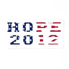 Hope 2012 dk Aluminum License Plate