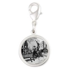 Paul_Reveres_ride Silver Round Charm