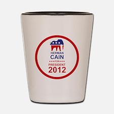 2012_herman_cain_pres_main Shot Glass