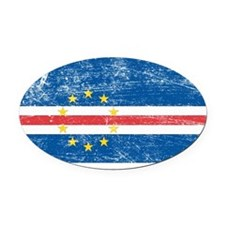 Cape Verde Oval Car Magnet