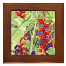 Heliconia iPad_Case Framed Tile