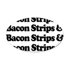 bacon Oval Car Magnet