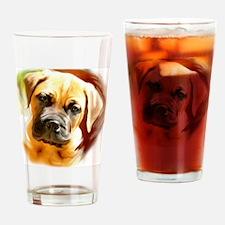 mastiff puppy portrait Drinking Glass