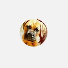 mastiff puppy portrait Mini Button