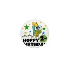 Frog Hoppy 2nd Birthday Mini Button