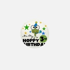 Frog Hoppy 3rd Birthday Mini Button
