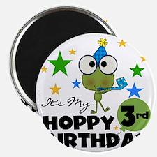 Frog Hoppy 3rd Birthday Magnet