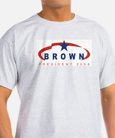 Lance Brown for President (ri Ash Grey T-Shirt