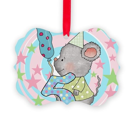 MOUSE5THBDAY Picture Ornament