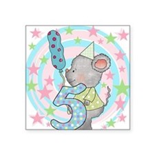 "MOUSE5THBDAY Square Sticker 3"" x 3"""