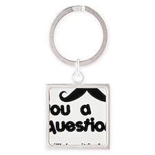 moustacheq Square Keychain