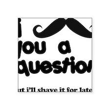 """moustacheq Square Sticker 3"""" x 3"""""""
