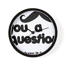 moustacheq Wall Clock