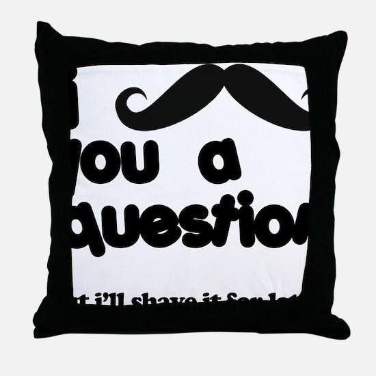 moustacheq Throw Pillow