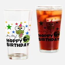 Frog Hoppy 6th Birthday Drinking Glass