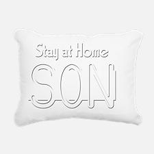 stayathomeson2 Rectangular Canvas Pillow