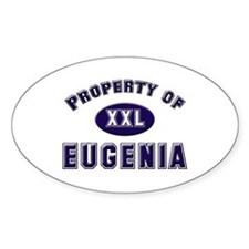 Property of eugenia Oval Bumper Stickers