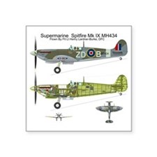 "SpitfireBib Square Sticker 3"" x 3"""