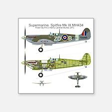 "SpitfireBib Square Sticker 3"" x 3"""