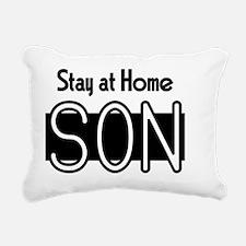 stayathomeson Rectangular Canvas Pillow