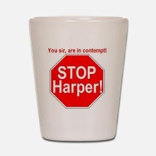 STOP-Harper-RED Shot Glass