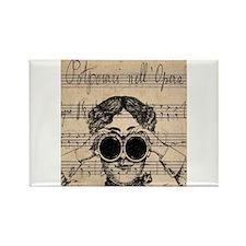Victorian Steampunk Binoculars Woman Magnets