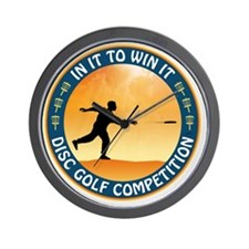 june11_discgolf_competition Wall Clock