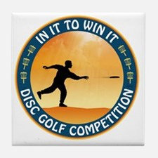 june11_discgolf_competition Tile Coaster