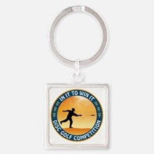 june11_discgolf_competition Square Keychain