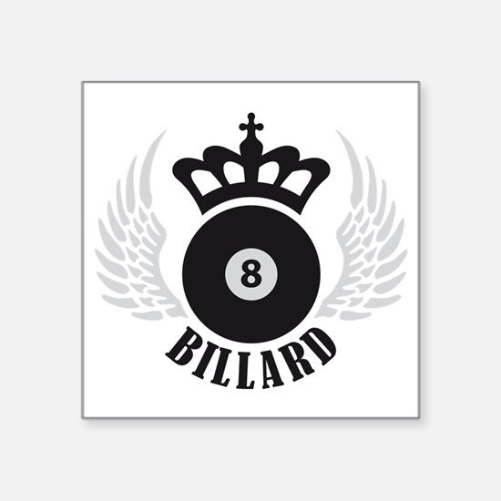 "billard Square Sticker 3"" x 3"""